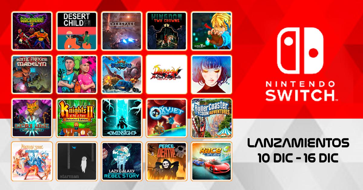 Proximo Lanzamientos De Juego Para Nintendo Switch Del 10 Dic 16 Dic Npe